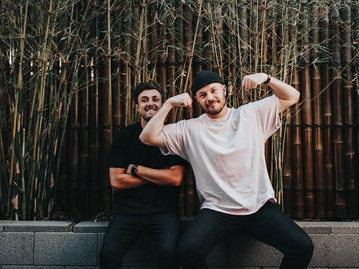Lachlan Bradford & Robbie Hicks of Funny Business & Wellbeings Group